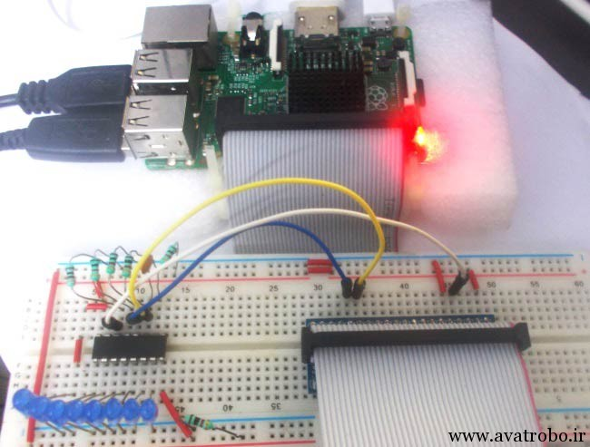 Interfacing-Raspberry-Pi-with-Shift-Register