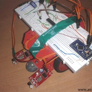 ساخت ربات مسیریاب با آردوینو