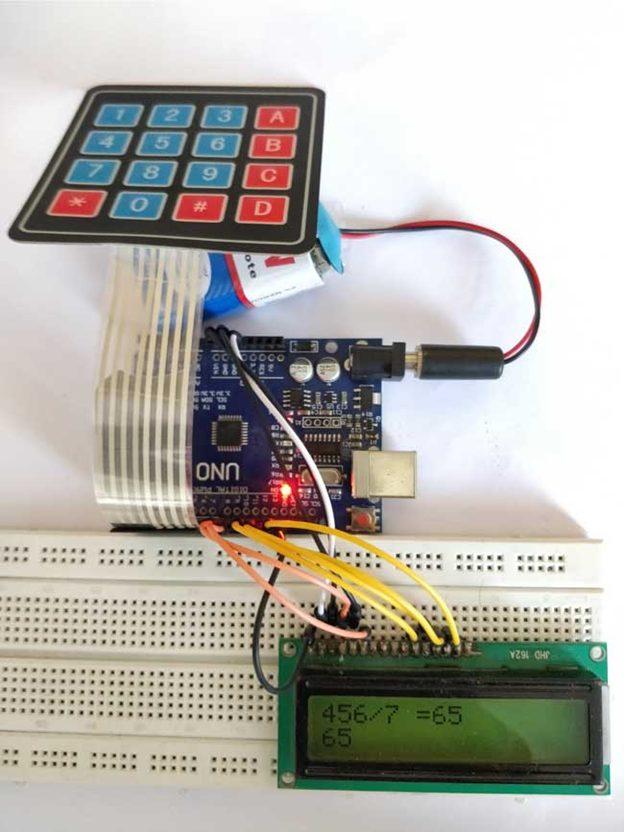 ماشین حساب آردوینو با استفاده از صفحه کلید 4x4 بسازید