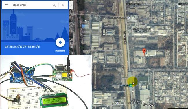 موقعیت یابی یک ماشین با Google Map به وسیله آردینو، ESP8266 و GPS