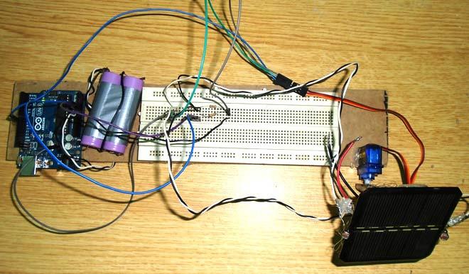 پنل خورشیدی ردیاب نور آردونو با استفاده از LDR و سروو موتور