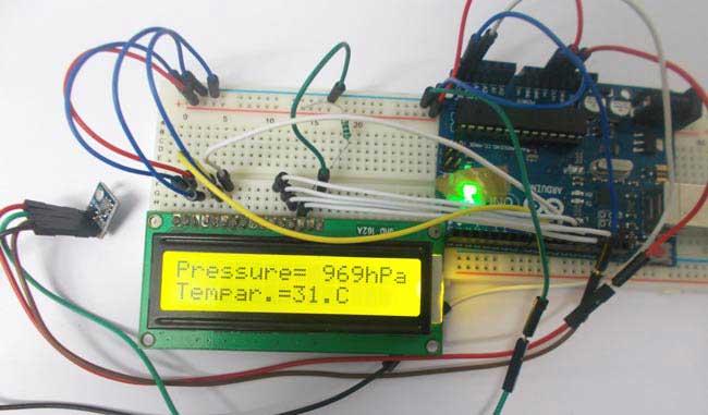 راه اندازی سنسور فشار سنج BMP180 با آردوینو