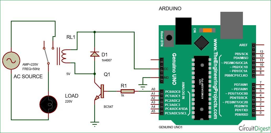 کنترل رله با آردوینو