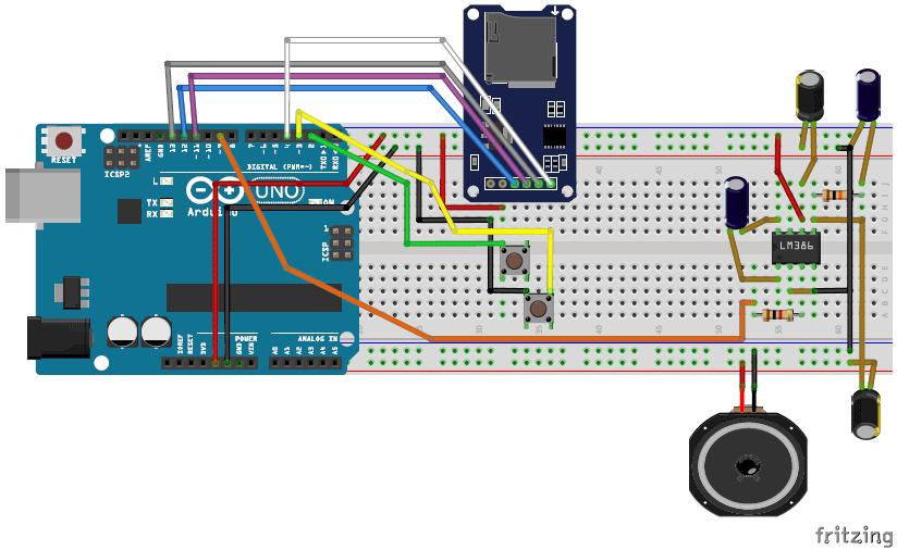 پخش کننده فایل های صوتی(mp3 player) با استفاده از آردوینو