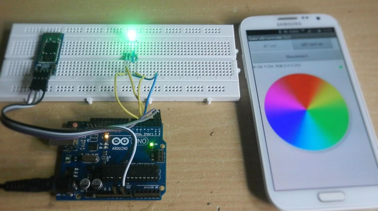 کنترل رنگ led های RGB بوسیله آردینو و بلوتوث