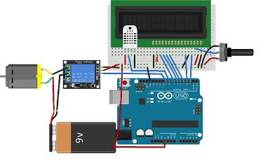 کنترل دما با استفاده از فن از طریق آردوینو