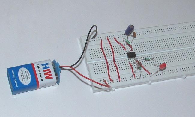 ساخت مدار تشخیص تاریکی با استفاده از آی سی 555