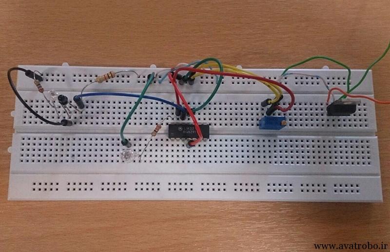 مدار راه اندازی سنسور مادون قرمز